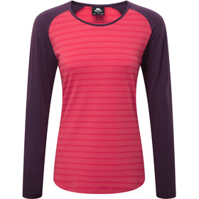 Mountain Equipment Redline LS Tee Damen virtual pink stripe/blackberry